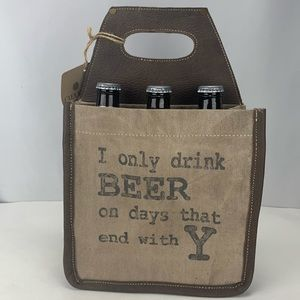 Beer Caddy Made From Repurposed Tent Canvas